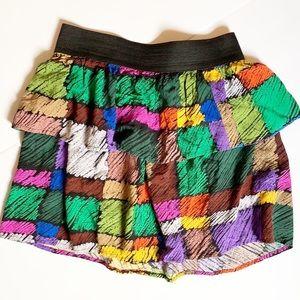 UO • Urban Renewal | VTG Print Color Pallet Skirt